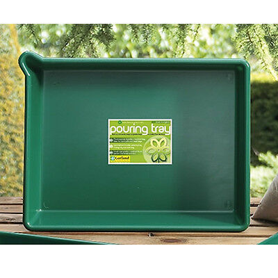 Garland Pouring Tray With Lip Green Garden Greenhouse 53X40X9.5Cm G46