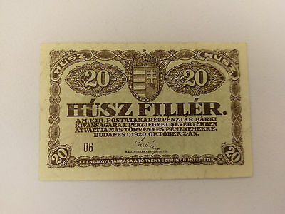 HUNGARY 20 Filler note - 1920