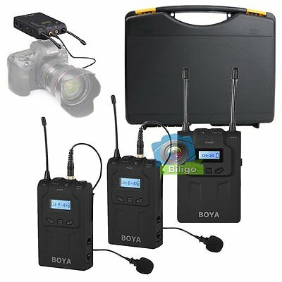 BOYA BY-WM8 UHF Wireless Lavalier Microphone System For ENG EFP Video Camera【UK】