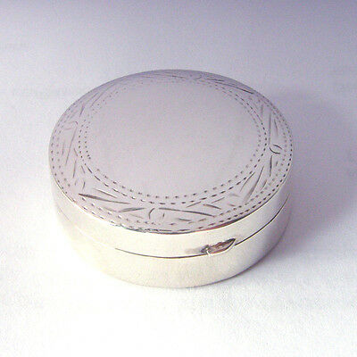 925 Sterling Silver Round Pill Box.  ***on Very Special Clearance Offer***