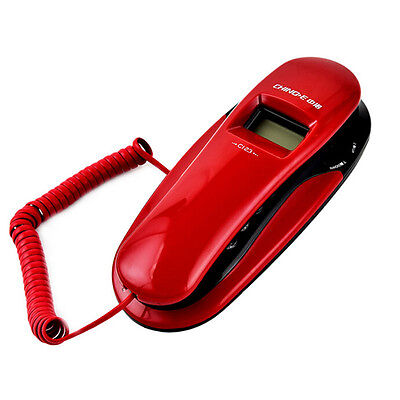 Wall Landline Caller Id Desk Corded Home Phone Telephone Lcd Mount Office New
