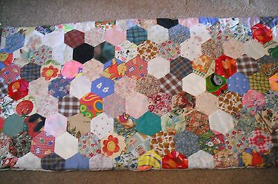 """Hand Made Bed Quilt Childrens Patterns Size 60""""lx 30""""w.cotton.padded.new!"""