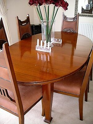 Art Nouveau Extension Dining Table with 6 chairs