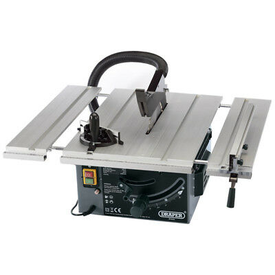 "Draper 250mm 10"" 1800W 230V 630 x 710mm Extending Table 36T TCT Saw Mitre Guide"