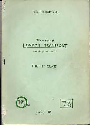 The Vehicles Of London Transport And Its Predecessors 1972