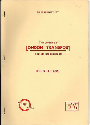 The Vehicles Of London Transport & Its Predecessors - The 'ST' Class