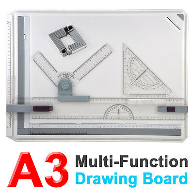 A3 Drawing Drafting Board Table Set Multi Function Clamping Bar High Quality