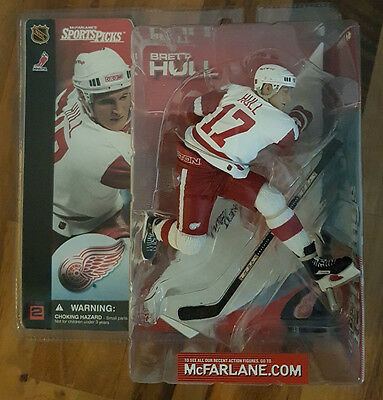 Mcfarlane NHL Serie 2 Brett Hull Detroit Red Wings Eishockey Figur