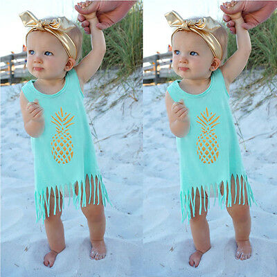Sweet Toddler Kids Baby Girls Summer Clothes T-shirt Tops Skirt Dress Outfits BN