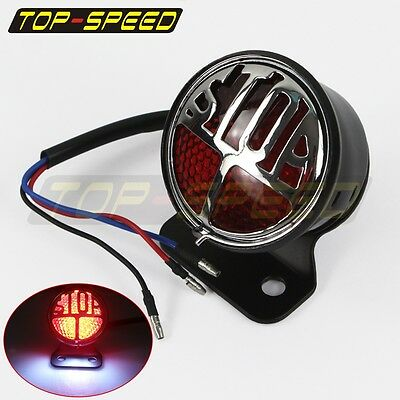 Motorcycle Rear Stop LED Brake Taillight License Plate Lamp Custom Fit Harley