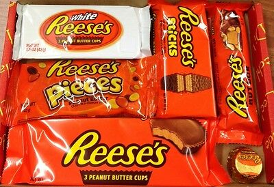 Reese's Peanut Butter White Chocolate gift Box american  christmas usa