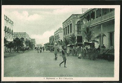 formidable CPA Djibouti, Rue d´Abyssinie