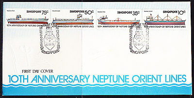 Singapore 1978 Neptune Orient Shipping Lines  First Day Cover - Unaddressed