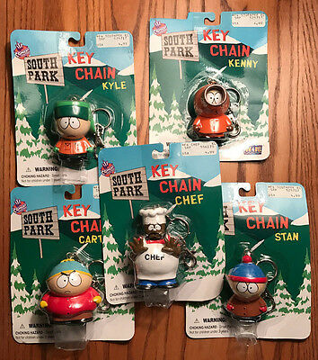 SOUTH PARK KEYCHAINS - SEALED LOT OF 5! - Comedy Central Chef Kyle Stan Kenny