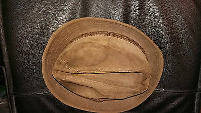 Vintage Pigskin Hat By Hush Puppies Made For Dunn