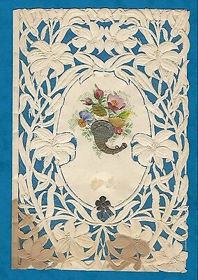Imperfect Victorian Valentine Card Paper Lace