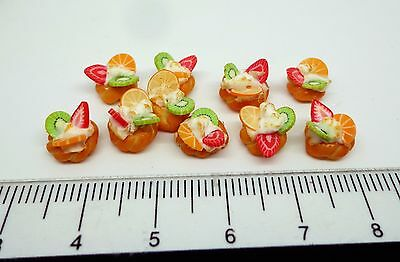 1:12th Scale 10 Small Pastries  Dolls House Miniature Food