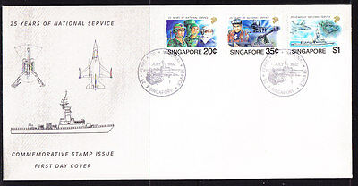 Singapore 1992 National Service 25 Years First Day Cover - Unaddressed