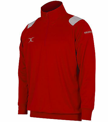 Clearance Line New Gilbert Rugby Verve Tracksuit Top Red 2XL