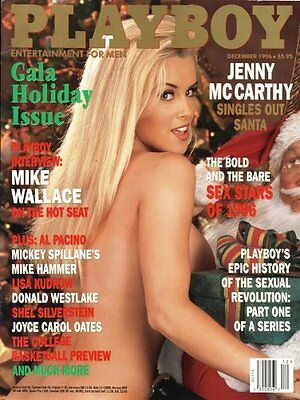 Vintage Playboy december 1996 jenny mccarthy mens adult glamour magazine