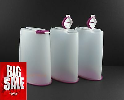 Tupperware Premium Canister / Cereal Dispenser Set of 3 (2.5L) + Free Express