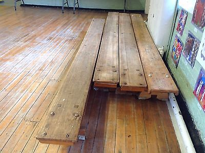 Four Vintage Wooden School Gym Benches (would consider selling individually)