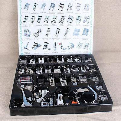 32PCS Sewing Machine Presser Foot Feet Domestic Toyata Brother Janome Singer Kit