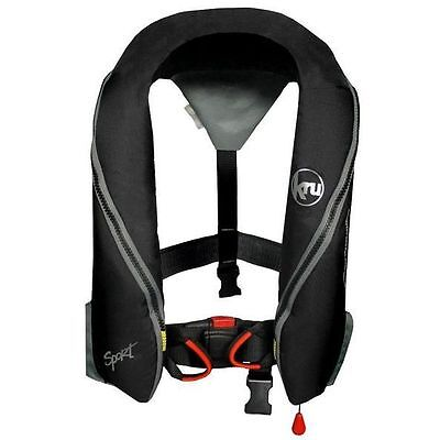 KRU SPORT 185 Lifejacket with Automatic Inflation and Harness - BLACK