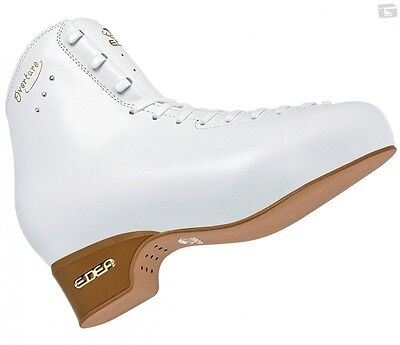 Edea Overture junior Figure Skates White BOOT ONLY - 240 D - Free Postage