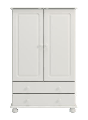 Copenhagen 2 Door 2 Drawer Combi Robe in White Bedroom Furniture from Denmark