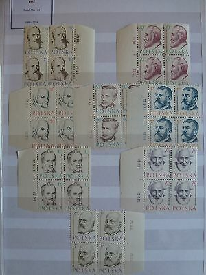 STAMPS: POLAND 7, 1957 Doctors, MNH
