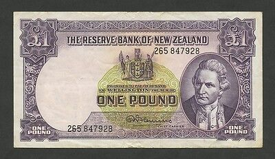NEW ZEALAND - £1  (Cook)  P159d  About VF  ( Banknotes )