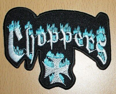 neu WEST COAST CHOPPERS BLUE FLAMES chopper motor Kult Aufnäher Aufbügler patch