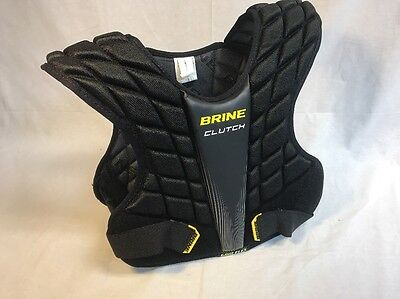BRINE Clutch Lacrosse Shoulder Pad, Black, Medium CMSP15-BKM