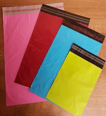 50 Mixed Green,Blue,Burgundy,Pink Mailing Bags (SP4)