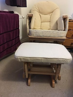 Serenity Maternity Glider Gliding Rocking Chair with Footstool