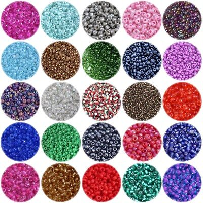 OPAQUE SEED BEADS Size 11/0 approx 2mm  CHOICE OF COLOURS  CRAFT GLASS BEADS