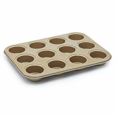 Paul Hollywood Non-Stick Twelve Hole Deep Baking Tin ideal for muffins pies etc