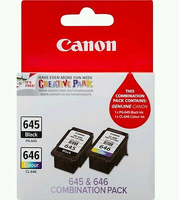 Canon Genuine Combination Pack PG-645 CL-646 B&W + Colour + FREE FAST POST