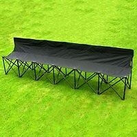 Folding Portable Bench Football Samba Sports Event Spectators 6 Seater Chairs