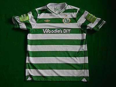 Shamrock Rovers League Of Ireland 2010-11 Football Home Shirt ,mens Xs ,kids Xl