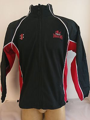 Clearance Line Fleece Welsh Dragons Black Red Size XL