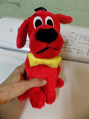 "Nanco Clifford the Big Red Dog Plush 9"" w/ bone tag 2001 Scholastic Bridwell 10"