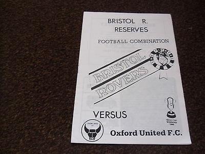 BRISTOL ROVERS v OXFORD UNITED RESERVES  COMBINATION  02/12/1986 at Forest Green