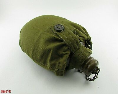 Original Soviet Russian Army Soldier Bottle Flask Water Military Canteen, USSR!