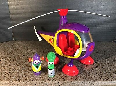 Veggie Tales Larryboy's Larrycopter With Figures RARE