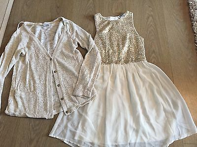 Girls Dress And Cardigan Bundle Outfit Aged 11-12