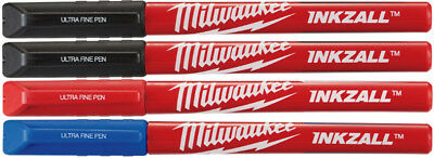 Milwaukee 48-22-3165 INKZALL Ultra Fine Point Color Pens, 4 Pack