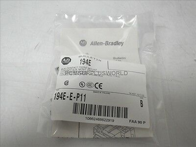 194E-E-P11 Ser B Allen Bradley Auxiliary Contact Front Mount (New)