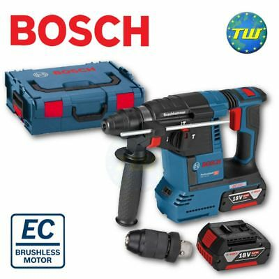 Bosch GBH 18V-26F Professional Brushless Cordless SDS+ Drill 2x 6.0Ah LBoxx Case